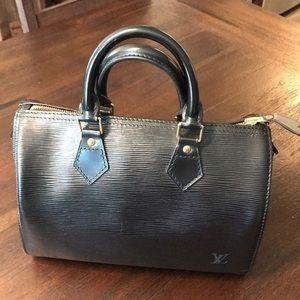 LV Black Epi Leather Speedy 25
